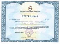 Сертификат о освоении программы Последние изменения нормативно-правовых актов в области трудовых отношений. Кадровое делопроизводство
