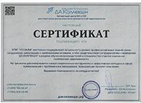 Сертификат  методы работы с проблемной задолженностью
