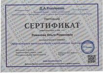 Сертификат о участии в вебинаре Эффективные методы работы с проблемной задолженностью